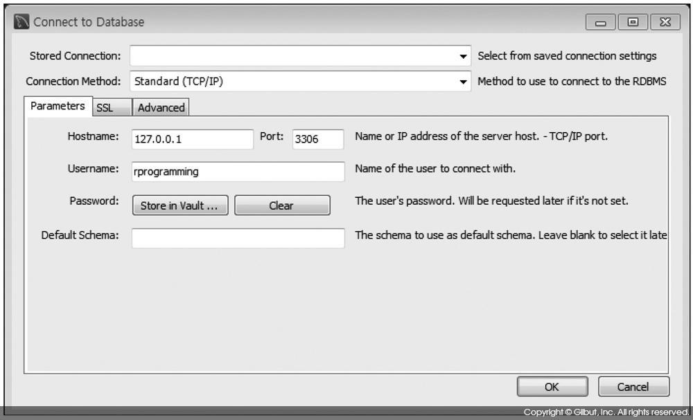 그림 4-8 rprogramming 사용자로 MySQL 접속