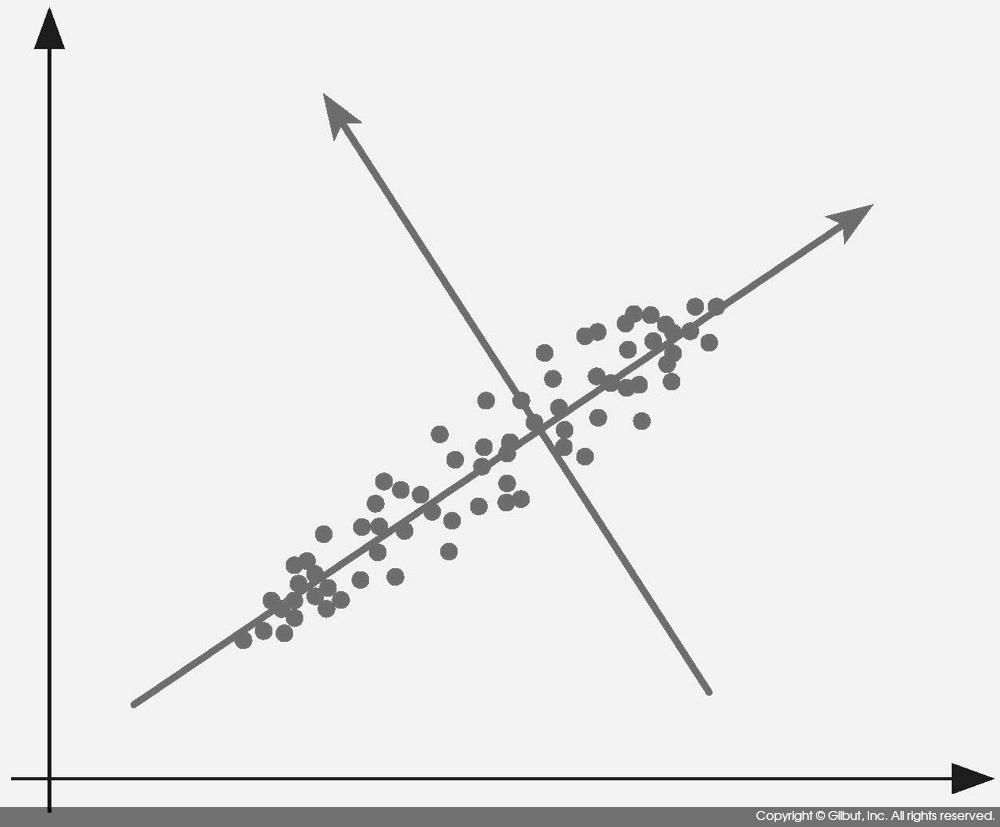 그림 9-10 주성분 분석의 두 번째 주성분